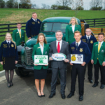 Kentucky state 4-H and FFA officers join Agriculture Commissioner Ryan Quarles at the photo shoot for the annual Ag Tag poster that appears in county clerks' offices throughout the Commonwealth. (Kentucky Department of Agriculture photo)