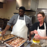 Dana Wheeler at DACC working with a culinary arts student. (Courtesy of University of Illinois Extension)