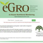 Figure 1. In-House Nutritional Monitoring Database homepage. (Courtesy of Michigan State University Extension)