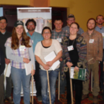Scholarship Recipients receive a pasture stick and grazing guide. (Courtesy of GrassWorks Grazing Conference)