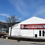 The Varied Industries Tent brings additional exhibitors to the National Farm Machinery Show, filling the new 148-by-66-foot steel-framed heated tent. (Courtesy of Kentucky Venues)
