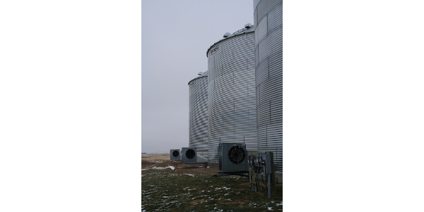 Keep stored grain cool during spring and summer