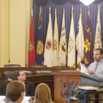 Jon Jovaag testifying at Congressional hearing on soil health. (Courtesy of Land Stewardship Project)