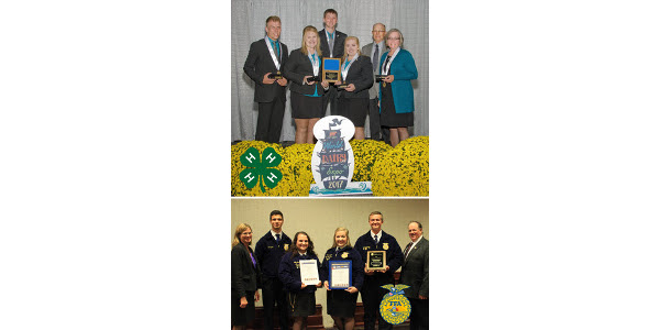 The Missouri 4-H team is comprised of 4-H members from Christian, Lawrence, Polk and Webster counties. Grant Groves, Daryin Sharp, Ellie Wantland and Lora Wright placed second in Holsteins, fourth in Ayrshires, fifth in Guernseys, fifth in Jerseys, seventh in Brown Swiss and third in oral reasons. The Montett FFA team consists of four members: Sam Masri, Lora Wright, Lilly Schmidt and Blake Wright. The National FFA Dairy Cattle Evaluation and Management CDE is a competitive event that tests the student's ability to select and manage quality dairy cattle. (Courtesy of Missouri Department of Agriculture)