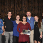 The South Dakota Pork Producers Council recognized the Jim Petrik Family with the 4th Annual Family of the Year Award during the Master Pork Producers Banquet on Wednesday, January 10, 2018. (Courtesy of SDPPC)