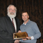 Charles Rossow of Florence, SD was honored by the South Dakota Pork Producers Council (SDPPC) with the 2017 Pork All-American Award at the Master Pork Producers Banquet on Wednesday, January 10, 2018 during their 49th Annual Pork Congress in Sioux Falls. (Courtesy of SDPPC)