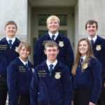 2017-2018 S.D. State FFA Officer Team, (Top left to right): Avery Gilchrist, Clayton Sorum, Dalton Larson. Bottom Left to Right: Elle Moon, Aaron Linke, April Hamilton. (Courtesy photo)