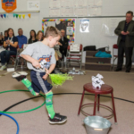 In celebration of National School Breakfast Week, the interactive, Olympic-style games highlighted the importance of eating a nutritious breakfast every day, as well as regular physical activity. (Courtesy of Western Dairy Association)