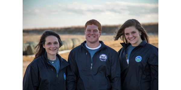 The National Pork Board announced that Adam Krause from South Dakota and Emma Lasco and Christine Snowden, both from Iowa, have been named the 2018 Pig Farmers of Tomorrow. (Courtesy of National Pork Board)