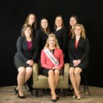Group photo, front (l-r): Kaitlyn Riley, 70th Alice in Dairyland Crystal Siemers-Peterman, Jacqueline Hilliard; back (l-r) Sydney Endres, Megan Schulte, Kristen Broege, and Alexus Grossbier. (Courtesy of Wisconsin Department of Agriculture)