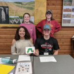 Front Row (Left to Right): Hannah Jochims; Dalton Jacobsma. Back Row (Left to Right): Mikayla Boeshart; Ashley Cagle. (Courtesy of Iowa State University Extension and Outreach)