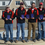 The Nebraska College of Technical Agriculture won first place at the Kansas State University crops judging contest on March 9th. The top four individuals in the 2-year college division were, from left, Dalon Koubek, North Platte, 2nd; Will Kusant, Comstock, 4th; Nate Montanez, Grand Island, 3rd; and Lee Jespersen, Hemingford, 1st. (Brent Thomas/NCTA News Photo)