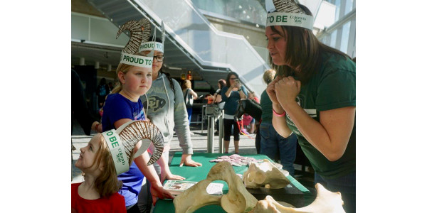 For the past three years, Colorado State University has hosted a clubhouse at the Denver Museum of Nature & Science's annual Girls & Science event, a fun-filled day focused on STEAM (science, technology, engineering, arts, and mathematics) career exploration and mentorship for kids, mostly between eight and 13 years old. (Courtesy of CSU)