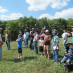 Beginning Farmer Nathan Anderson at his summer 2013 field day on perennial pasture management. (Courtesy of Practical Farmers of Iowa)