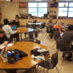 Students at a Sioux County, Iowa high school are being given the chance to learn how to use feedlot management tools after the addition of new laptops and software to their agricultural education program. (Courtesy of Iowa Cattlemen's Association)