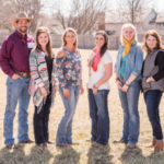 (From Left to Right) Jake Renner, Issac Carr, Jill Carr, Amanda Sowers, Myndi Kraft, Janet Phillips, Wrenn Pacheco, Arturo Pacheco. (Courtesy of Kansas Beef Council)