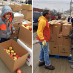 Volunteers assisting with Food Box distribution. (Courtesy of Iowa State University Extension and Outreach)