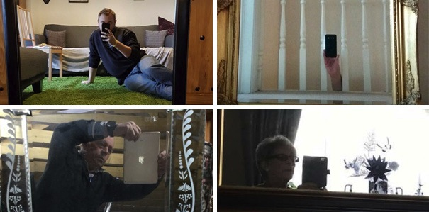 People sell mirrors online with creativity, humor, dogs