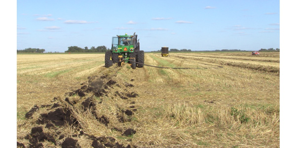 Proper design is critical to the tile drainage's performance. (NDSU photo)