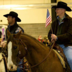 Gov. Ricketts rides horseback into the expo. (Courtesy of Office of Governor Pete Ricketts)