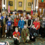 Twenty-one students, in 6th – 9th grade, and 4-H from Black Hawk, Bremer, Butler, Buchanan and Tama County spent a fun filled day of learning at the Iowa State Capital and Science Center of Iowa on February 28th. (Courtesy of ISU Extension and Outreach)