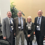 Pictured above with Colorado State Veterinarian Keith Rohr (second from left) are CEP Industry Relations Director David Collie, CEP Board Vice President Jerry Wilkins, and CEP Outreach Events Coordinator Terri Heine. (Courtesy of CEP)