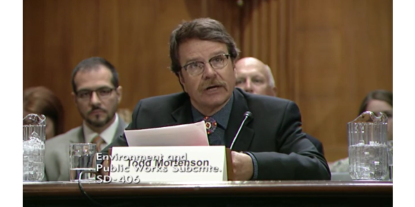 Third-generation South Dakota rancher and NCBA member Todd Mortenson testified in support of S. 2421, the Fair Agricultural Reporting Method (FARM) Act. (Courtesy of National Cattlemen's Beef Association)
