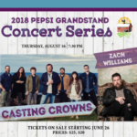 Contemporary Christian band Casting Crowns with Zach Williams to perform on the Pepsi Grandstand Stage. (Courtesy of Missouri State Fair)