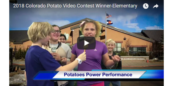 Lisa Wahler's class from Estes Park Elementary in Estes Park, Colorado won the elementary division. (Courtesy of Colorado Potato Administrative Committee)