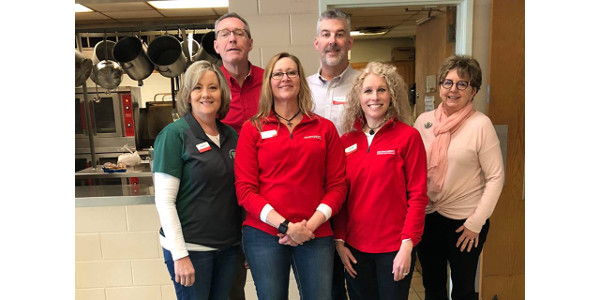 Staff from the Black Hawk County office kicked off the week by serving as Meal Program Volunteers at The Salvation Army in Waterloo on Monday the 16th. (Courtesy of ISU Extension and Outreach)