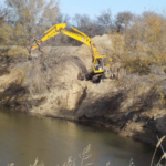 Kansas State University researchers are in the third year of a project to learn more about the best ways to stabilize streambanks and improve water quality. (Courtesy of K-State Research and Extension)