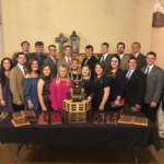 The Kansas State University Meat Animal Evaluation team won the national title for the third straight year during the annual competition in Lubbock, Texas. (Courtesy of K-State Research and Extension)