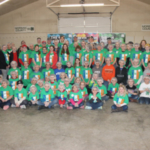 4-H Meal Packaging Event in Jacksonville, Illinois, on April 4, 2018. The event marked the one millionth meal from Illinois 4-H to feed Illinois' hungry. (Courtesy of University of Illinois)