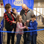The Dunkirks welcomed an addition to their farm by hosting an open house at their new 4,800 head wean-to-finish pig barn near Farmersville. (Courtesy of IPPA)
