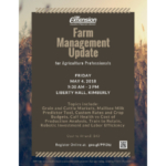 Eastern Wisconsin farm managers, agricultural lenders and other agriculture industry professionals are encouraged to attend the annual UW-Extension Farm Management Update for Ag Professionals on Friday, May 4th at Liberty Hall in Kimberly. (Courtesy of UW-Extension)