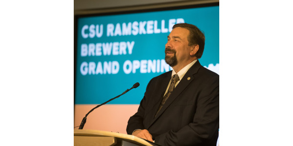 Colorado State University celebrates the grand opening of the Ramskeller Brewery, April 9, 2018.