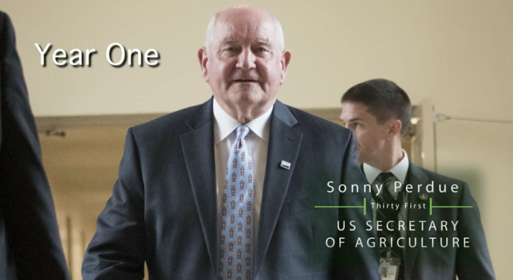Secretary Perdue commemorates 1st year at USDA