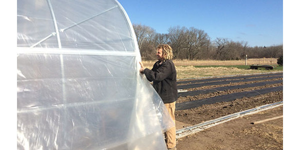 A K-State Research and Extension-sponsored bus tour on June 5 near Olathe will visit several farms that grow fresh produce for sale, incorporating the use of high tunnels in their operations. (Courtesy of K-State Research and Extension)