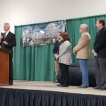 Lt. Governor Foley addresses the crowd at the Livestock Friendly County designation ceremony in Columbus. (Courtesy of Office of Governor Pete Ricketts)