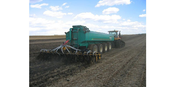 One of the big challenges when using manure as a fertilizer source is knowing the amount of plant nutrients that are present and available in the manure. (Courtesy of University of Minnesota Extension)