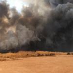 Wildfire in Dewey County OK. (Photo courtesy of Kayla Holcomb Dirickson)