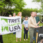 Presentation of Tree Campus USA Award to UK during 2017 Arbor Day event at The Arboretum. (Photo by Stephen Patton)