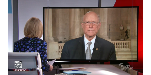 U.S. Senator Pat Roberts, R-Kan., Chairman of the Senate Committee on Agriculture, Nutrition, and Forestry, appeared on PBS NewsHour to talk about agriculture trade and his meeting with President Trump. (Courtesy of U.S. Senate Committee of Agriculture, Nutrition & Forestry)