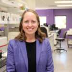 Megan Niederwerder, Kansas State University assistant professor of diagnostic medicine and pathobiology, is studying the risk of African swine fever virus in feed and developing ways to prevent the spread of the disease to the US. (Courtesy of KSU)