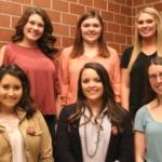 Front: Hannah Lowe, Tesheena Stewart, Courtney Nelson. Back: Sophia Lentfer, Halle Ramsey, McCyla Mickelson. (Courtesy of NPPA)