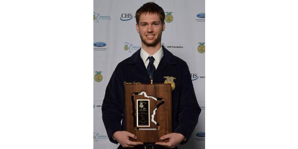 Saxton is Minnesota FFA Star Farmer