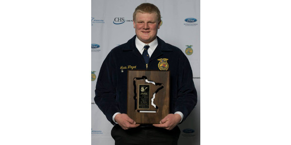 Wingert is Minnesota FFA Star in Agribusiness
