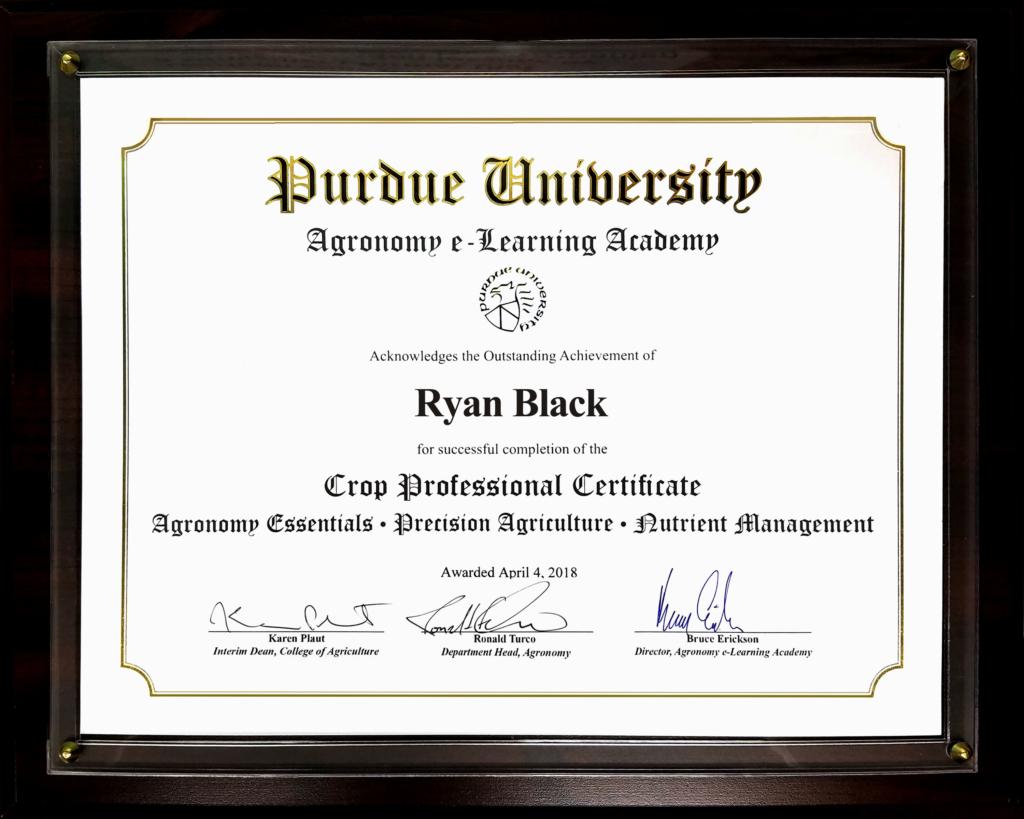 Purdue Online Agronomy Program Earns Award Morning Ag Clips
