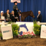 UW-River Falls student Danielle Paulson was named National Champion in Team Reining at the IHSA National Championships May 3-6 in Harrisburg, Pa. (Courtesy of UW-River Falls)