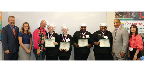 Winners at Regional Junior Chef Competition